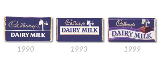 cadbury dairy milk iconic packaging