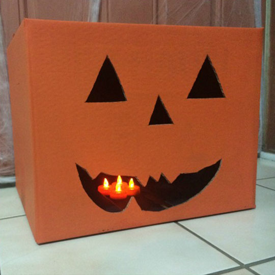 Decorating With Corrugate: Cardboard Jack-o'-Lantern