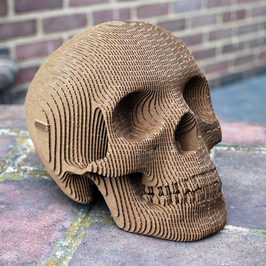 Decorating With Corrugate: Vince the Skull