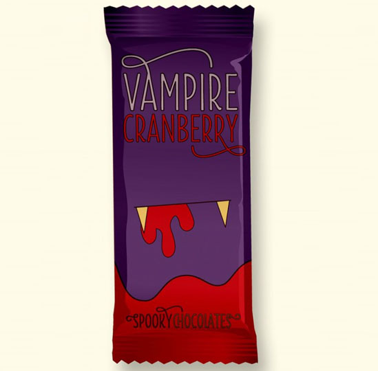 Halloween Candy Packaging: Vampire Cranberry