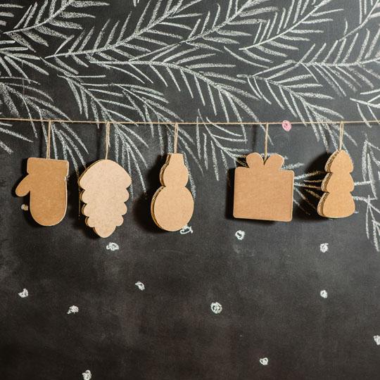 Decorating With Corrugate: Corrugated Ornaments