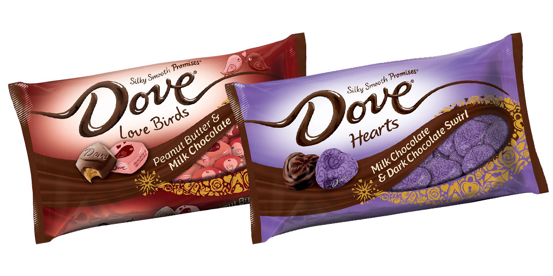 Valentine's Candy Packaging: Dove Hearts