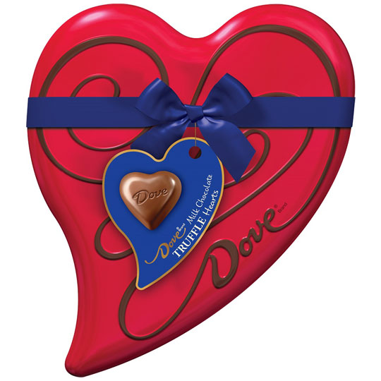 Valentine's Candy Packaging: Dove Hearts Tin