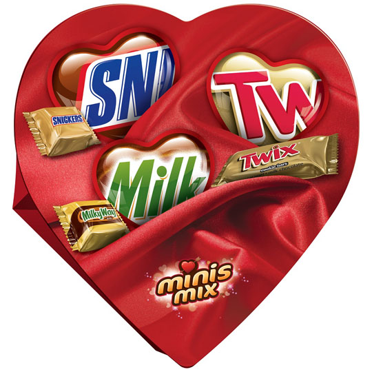 Valentine's Candy Packaging: Minis Mix Heart
