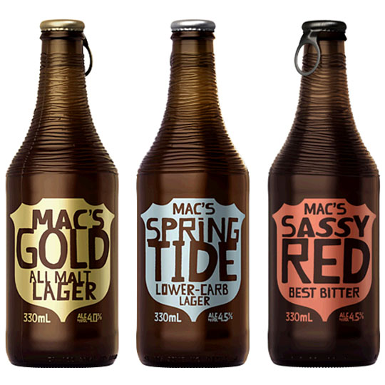 Beer Bottle Packaging: Mac's