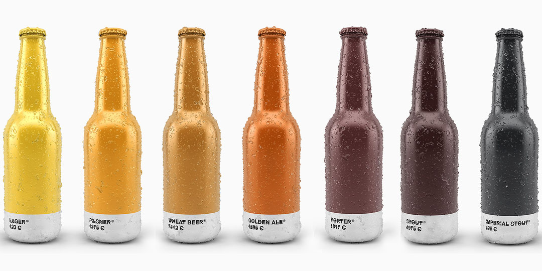 Beer Bottle Packaging: Pantone