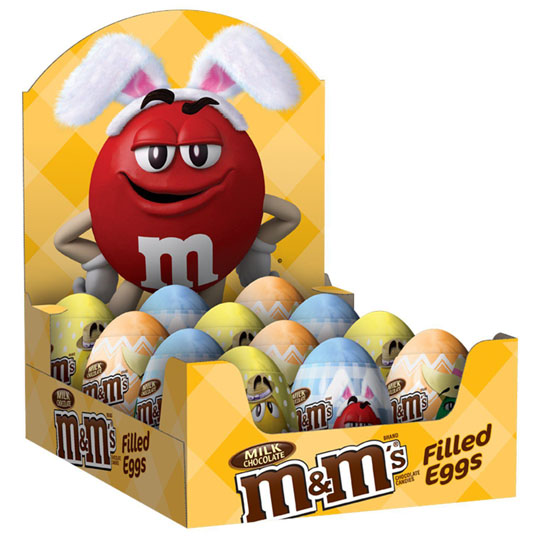 Easter Candy Packaging: M&M's Filled Eggs