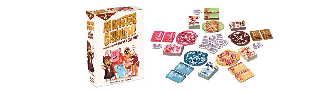 Halloween Cereal Packaging: Monster Cereals Card Game