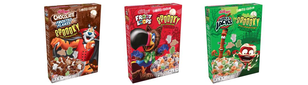 Halloween Cereal Packaging: Kellogg's Cereals