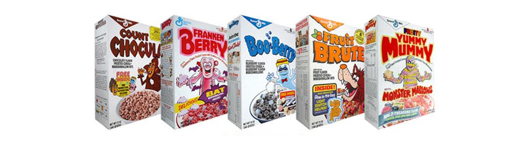 Halloween Cereal Packaging: Monster Cereals, Original