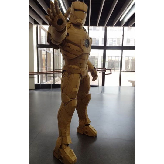Corrugated Costumes: Iron Man