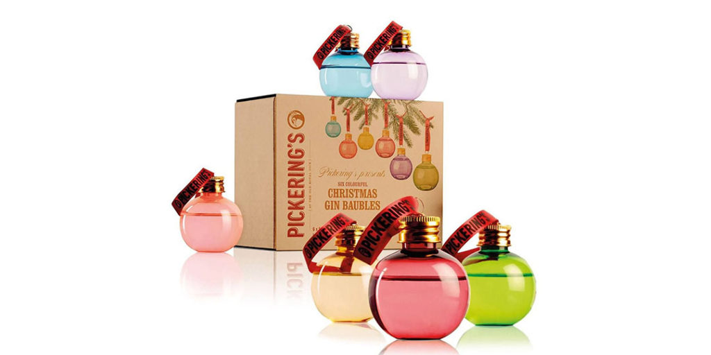 Holiday Alcohol Packaging: Pickering's Gin Baubles