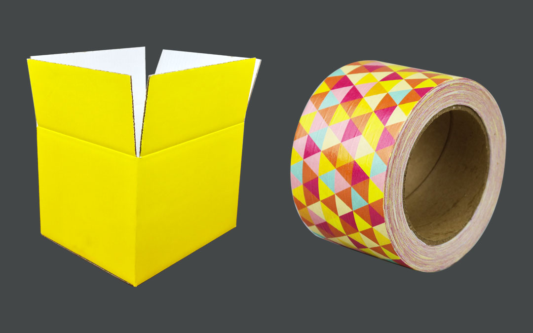 Custom Color Boxes and Custom Tape: A Perfect Pairing