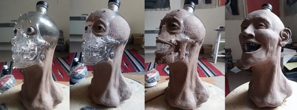Crystal Head Vodka: Face Bottle