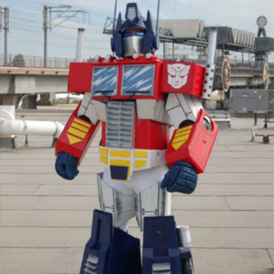 DIY Cardboard Costumes: Boximus Prime