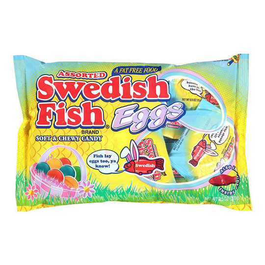 Easter Candy Packaging: Swedish Fish Eggs