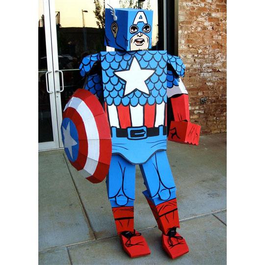 Corrugated Costumes: Golden Age Captain America