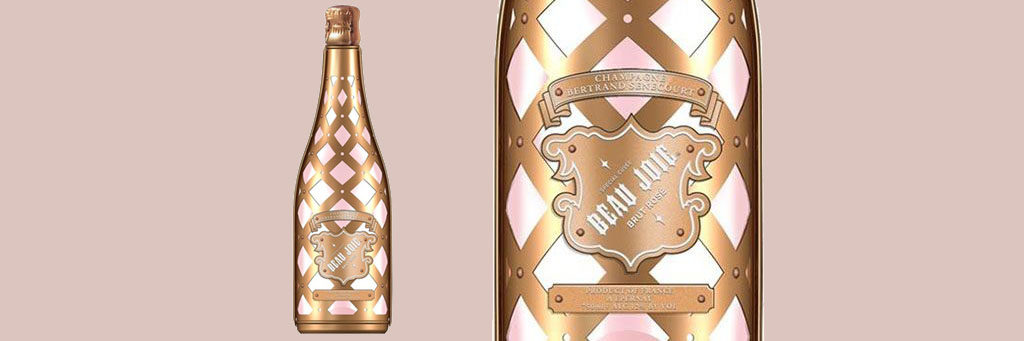 Valentines Alcohol Packaging: Beau Joie Brut Rose