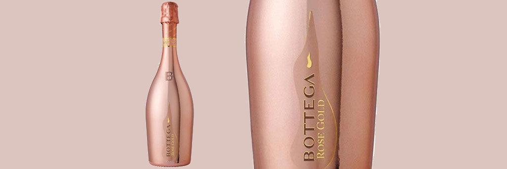 Valentines Alcohol Packaging: Bottega Rose Gold