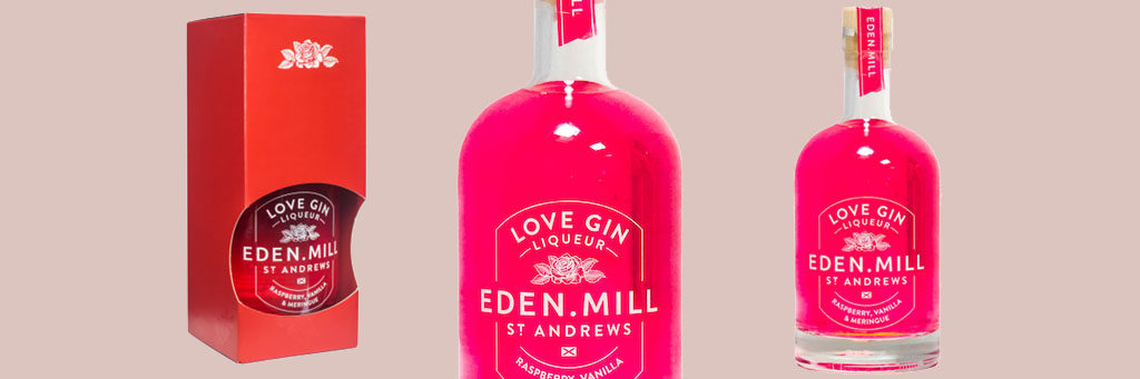 Valentines Alcohol Packaging: Eden Mill