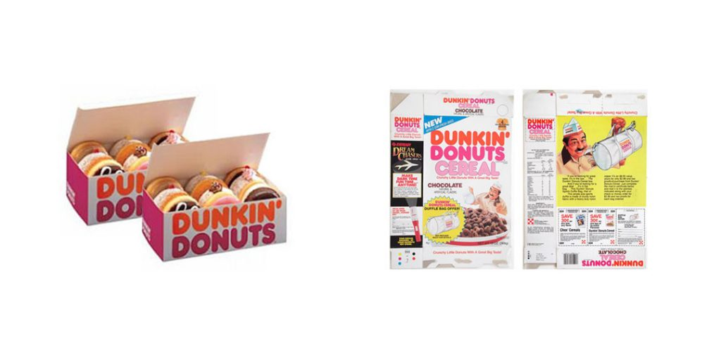 Dunkin Donuts: Orange and Pink