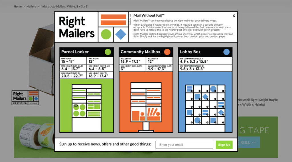 Right Mailers: Pop-Up