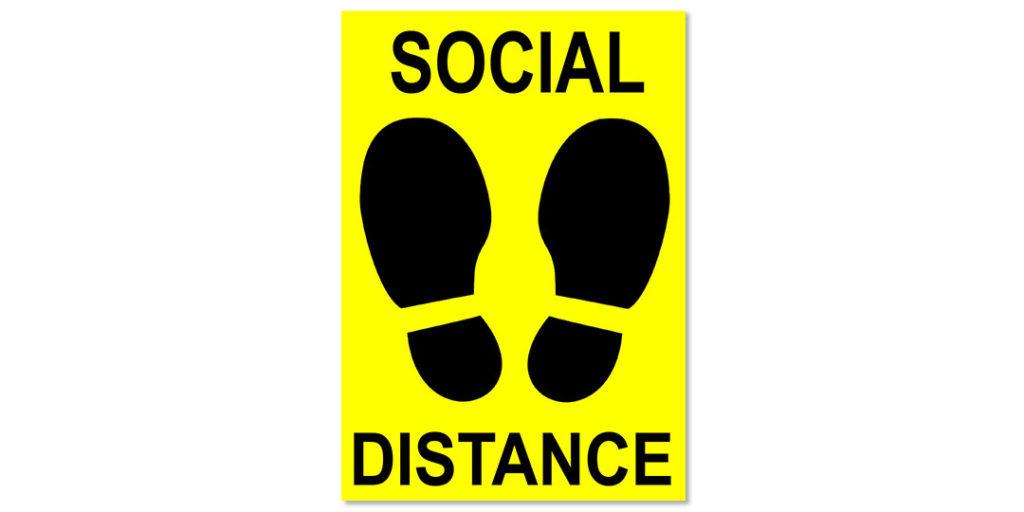 Social Distancing Supplies: Floor Decals