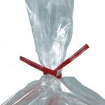 Plastic Twist Ties, Red, Pre-Cut, 9 x 5/32