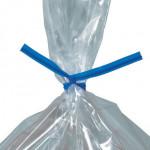 Plastic Twist Ties, Blue, Pre-Cut, 9 x 5/32