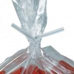 Plastic Twist Ties, White, Pre-Cut, 5 x 5/32