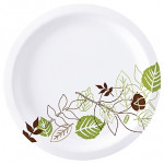 Dixie® Heavy Weight Paper Plates, White, 10 1/4