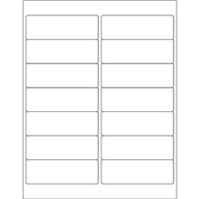 """White Weather-Resistant Laser Labels, 4 x 1 1/3"""""""