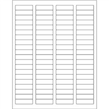 """White Weather-Resistant Laser Labels, 1 3/4 x 1/2"""""""