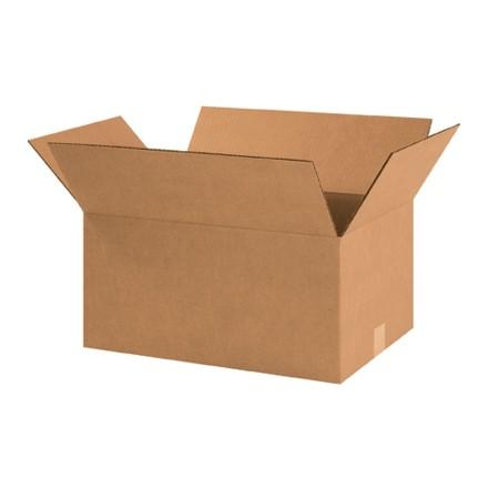 "Corrugated Boxes, 18 1/2 x 12 1/2 x 9"", Kraft"