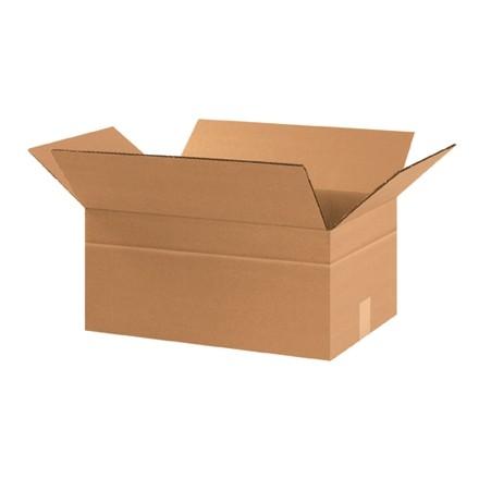 "Corrugated Boxes, Multi-Depth, 17 1/4 x 11 1/4 x 8"", Kraft"
