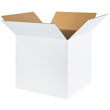 "White Corrugated Boxes, 20 x 20 x 20"", Cube"