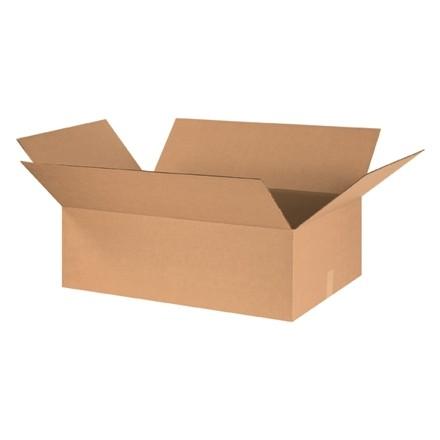 "Corrugated Boxes, 30 x 20 x 8"", Kraft, Flat"