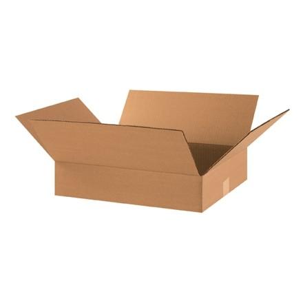 "Corrugated Boxes, 18 x 14 x 4"", Kraft, Flat"