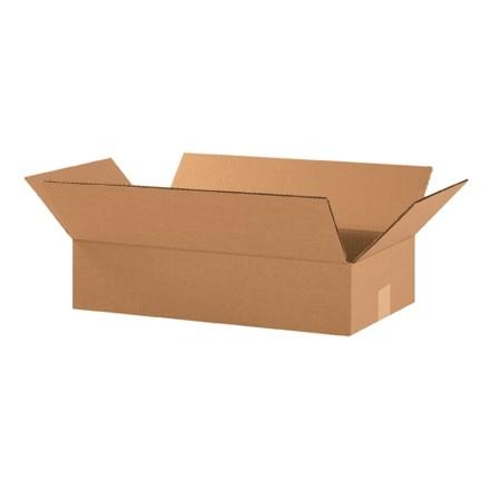 "Corrugated Boxes, 18 x 10 x 4"", Kraft, Flat"