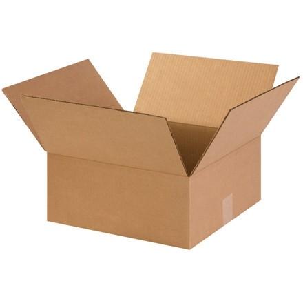 "Corrugated Boxes, 14 x 14 x 6"", Kraft, Flat"