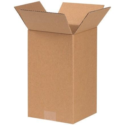 "Corrugated Boxes, 7 x 7 x 14"", Kraft"