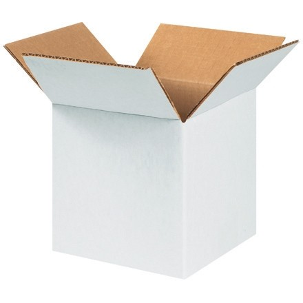 "Corrugated Boxes, 7 x 7 x 7"", White"