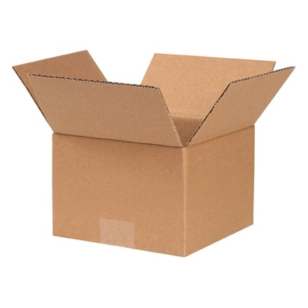 "Corrugated Boxes, 7 x 7 x 5"", Kraft"