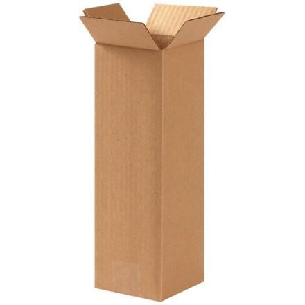 "Corrugated Boxes, 5 x 5 x 12"", Kraft"