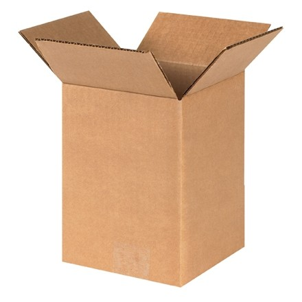 "Corrugated Boxes, 5 x 5 x 8"", Kraft"
