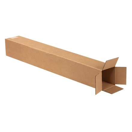 "Corrugated Boxes, 4 x 4 x 30"", Kraft"