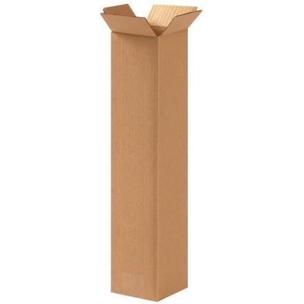 "Corrugated Boxes, 4 x 4 x 16"", Kraft"