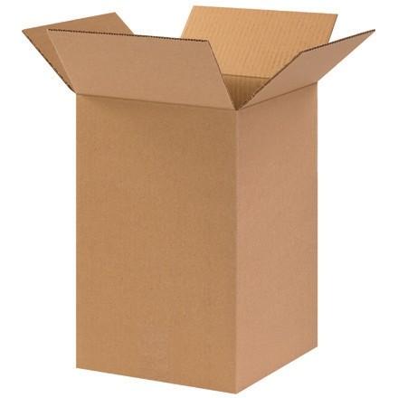 "Corrugated Boxes, 10 x 10 x 12"", Kraft"