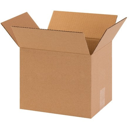 "Corrugated Boxes, 10 x 8 x 8"", Kraft"