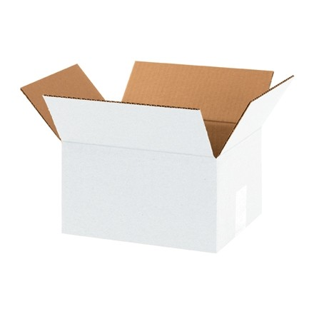 "Corrugated Boxes, 10 x 8 x 6"", White"
